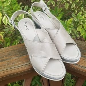B.O.C Wedge Sandals size 9M